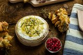 foto of dipping  - Baked Camembert with Garlic  - JPG