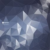 image of prism  - Abstract vector background with triangles and polygon mesh - JPG