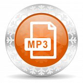picture of christmas song  - mp3 file orange icon - JPG