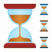 picture of sand timer  - Sand timer icon as a symbol of sand timer - JPG