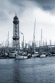 picture of old boat  - Port of Barcelona Spain - JPG