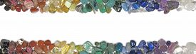 picture of wicca  - Header and footer of tumbled healing crystals on a white background - JPG