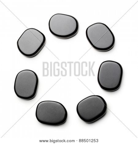 Spa stones isolated on white background.