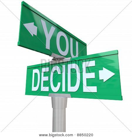 You Decide - Two-way Street Sign
