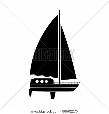 Illustration Of A Sailing Vessel
