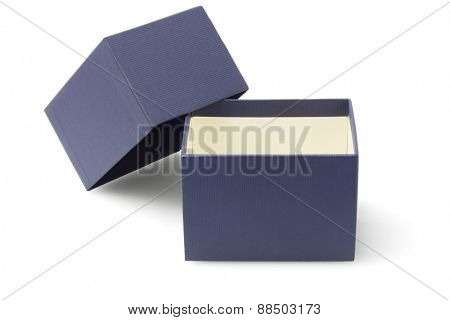 Open Packaging Box on White Background