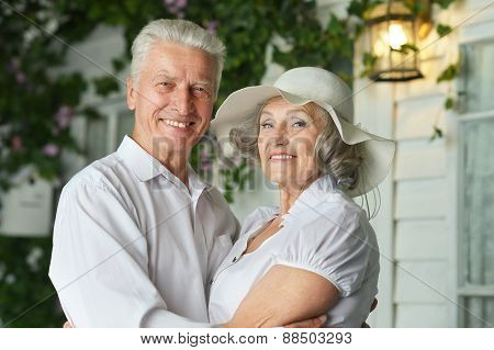 beautiful elderly couple