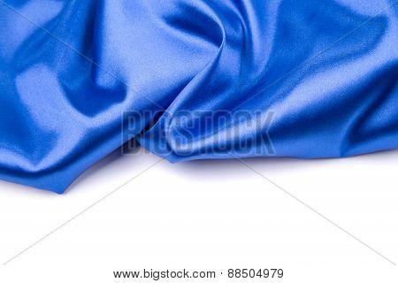 Gentle blue silk.