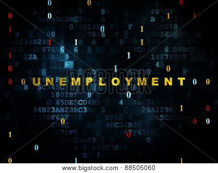 Business concept: Unemployment on Digital background