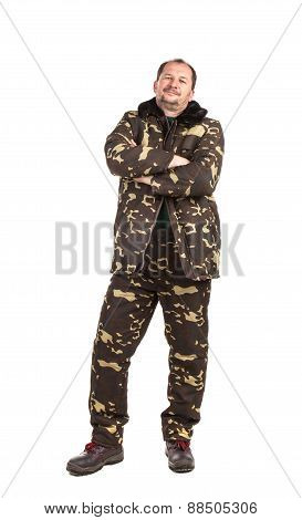 Proud man in military suit.