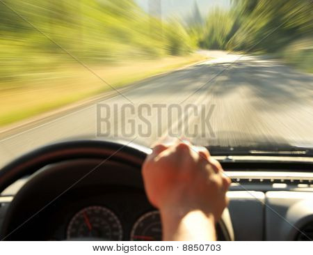 Driving Inside A Car
