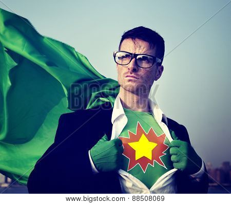 Star Strong Superhero Success Professional Empowerment Stock Concept