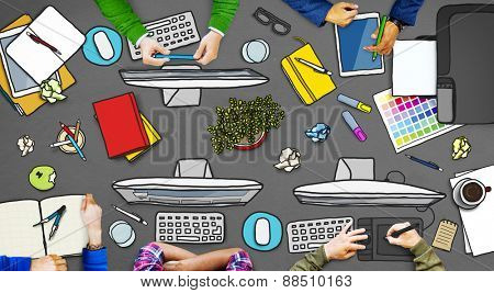 Business People Working Office Place of Work Concept
