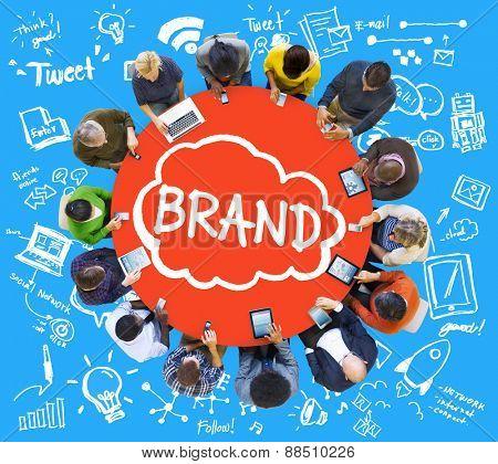 Brand Branding Connection Idea Technology Concept