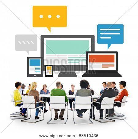 Responsive Design Internet Communication Technology Concept