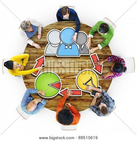 Community Brainstorming Business Meeting Planning Seminar Concept