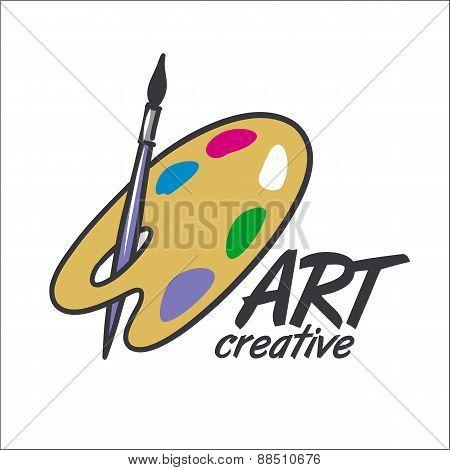 Vector Logo Brush And Palette For Art