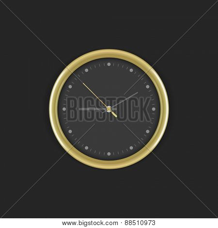 Clock vector mock up template for logotype presentation