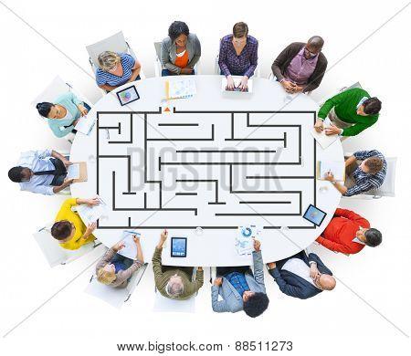 Puzzle Maze Game Concept