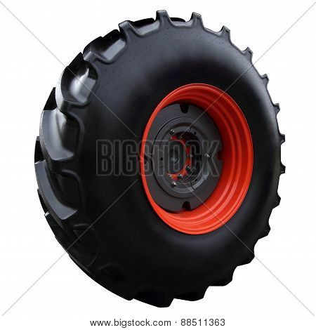 Red Tractor Wheel