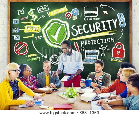 Ethnicity People Leadership Studying Security Protection Concept