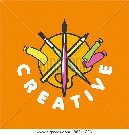 Vector Logo Brush And Palette For Creativity