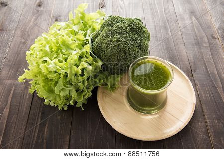 Broccoli Smoothie With Fresh Vegetable.