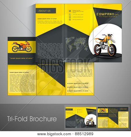 Professional trifold brochure, catalog and flyer for transport business.