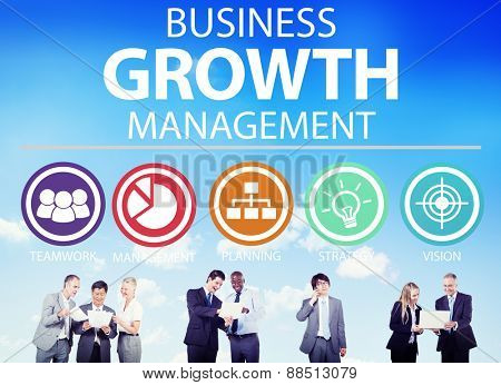 Business Strategy Management Mission Success Concept