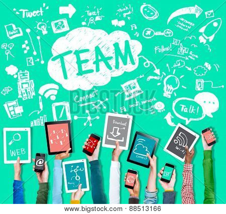 Team Teamwork Support Collaboration Togetherness Help Concept