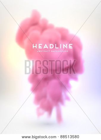 Smoke or Cloud and Fire. Special Effects. Abstract Background for Modern Design. Vector Illustration.