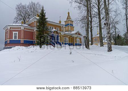 Transfiguration Church In Orthodox Monastery.
