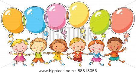 Kids With Speech Bubbles