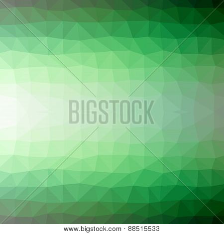 Abstract Geometric Background Of Green Triangular Polygons