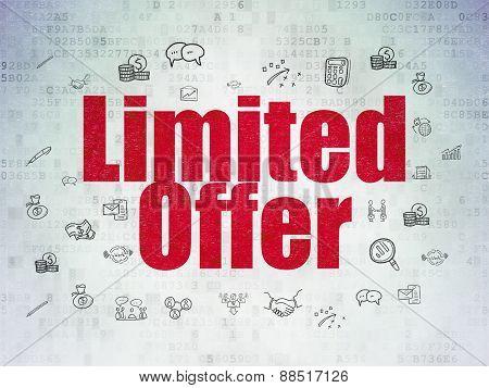 Finance concept: Limited Offer on digital background