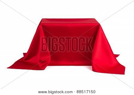Something Covered With Red Cloth