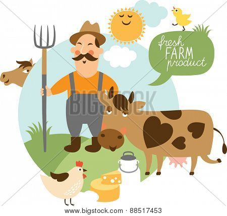 vector illustration on a farming theme