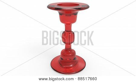 Modern Candle Holder In Red