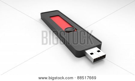 Usb Flash Drive 3D Render