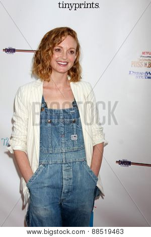 LOS ANGELES - FEB 19:  Jayma Mays at the Milk+Bookies Sixth Annual Story Time Celebration at the Toyota Grand Prix Racecourse on April 19, 2015 in Long Beach, CA
