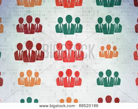 Marketing concept: Business People icons on background
