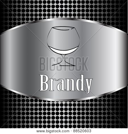 Brandy Glass Design Menu Background. Vector