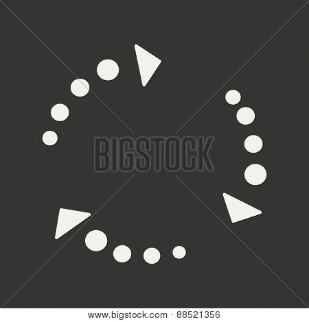 Flat in black and white mobile application arrows