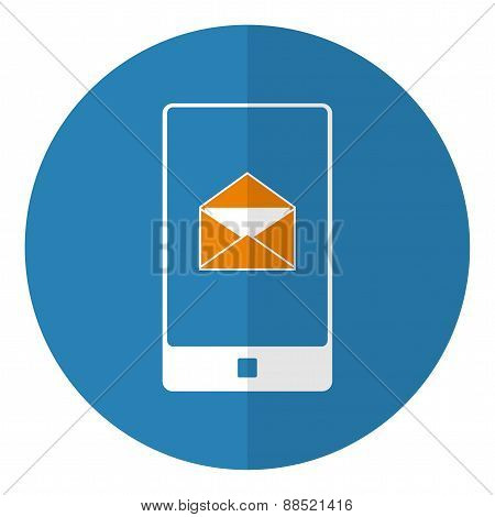 Smartphone With Mail Icon.