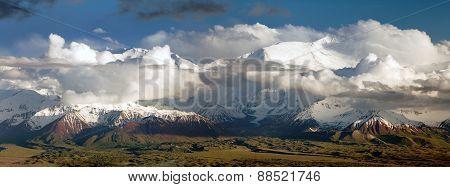 Lenin Peak From Alay Range - Kyrgyz Pamir Mountains