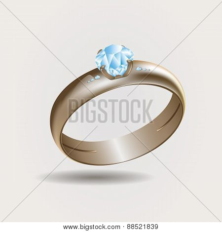 Gold Ring Illustration