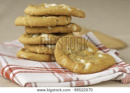 Soft White Cocolate Macadamia Cookies