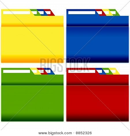 File Folders with label 4 sets