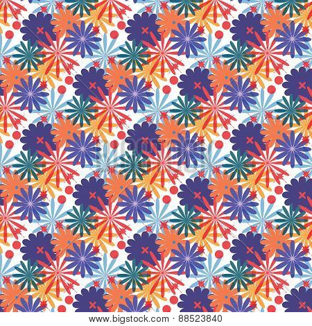 Seamless pattern. Texture with colorful flowers