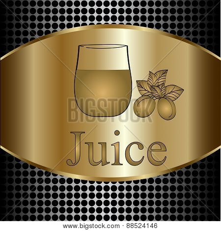 Fruit Juice Symbols -  Illustration Label Concept Menu. Vector Background